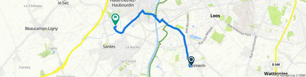 Moderate route in Hallennes-lez-Haubourdin