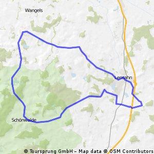 Straßenrundfahrt Beschendorf-Schönwalde-Hansühn-Beschendorf CLONED FROM ROUTE 547535