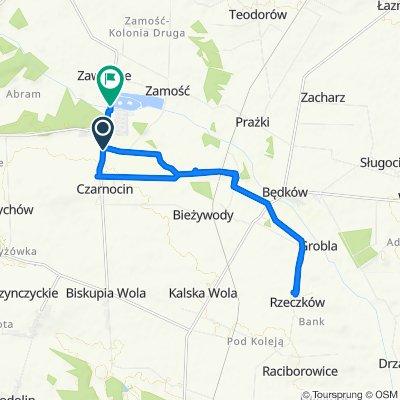 Restful route in Czarnocin
