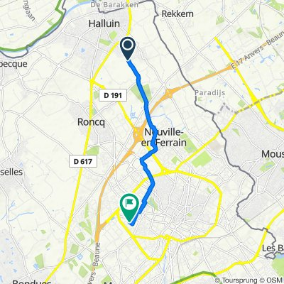 Restful route in Tourcoing
