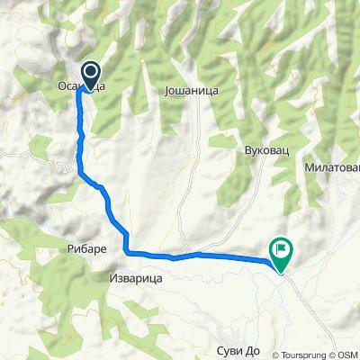 Osanica-ŽagubicaOsanica=33km.