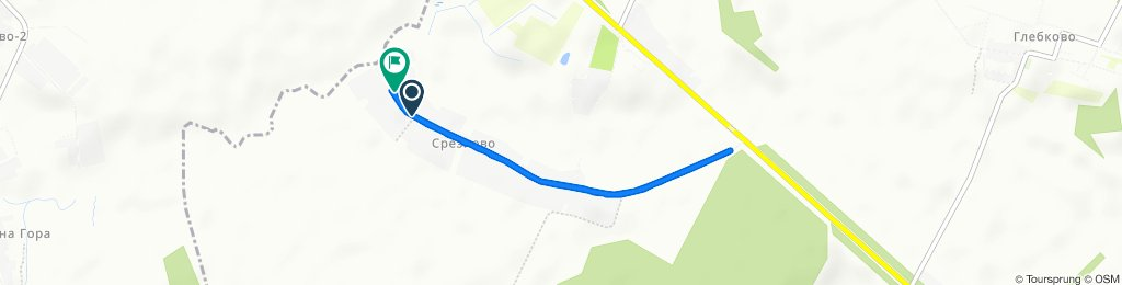 От Unnamed Road, Срезнево до Unnamed Road, Срезнево