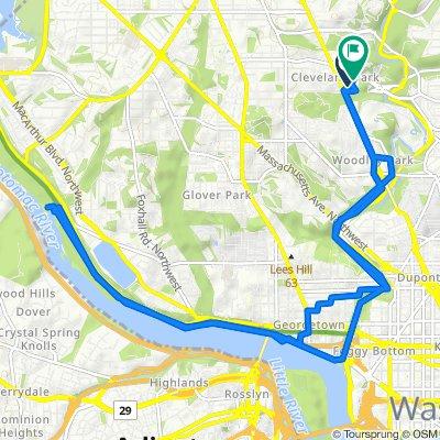 2728 Ordway St NW, Washington to 2723 Ordway St NW, Washington