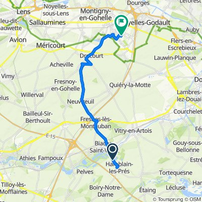 Restful route in Hénin-Beaumont