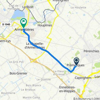 De 823 Rue Charles de Gaulle, Prémesques à 17 Rue de Dunkerque, Armentières
