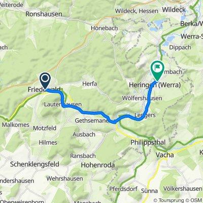 Hauptstraße 37, Friedewald nach Albert-Schweitzer-Straße 6, Heringen (Werra)