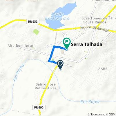 Rota constante em Serra Talhada