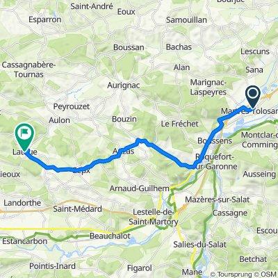 De Boulevard du Nord 1, Martres-Tolosane à Le Village 12, Latoue
