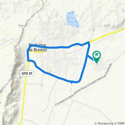 De Calle Tamaulipas 16, San Roque de Montes a Calle Tamaulipas 16, San Roque de Montes
