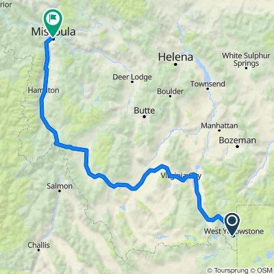 West Yellowstone—-> Missoula, mt
