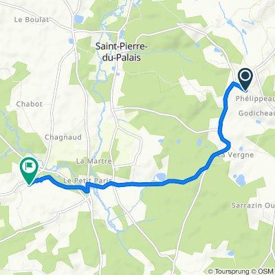 Cercoux Route du Lary