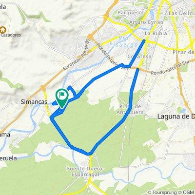De Calle Zarcera, 11, Simancas a Calle Zarcera, 11, Simancas