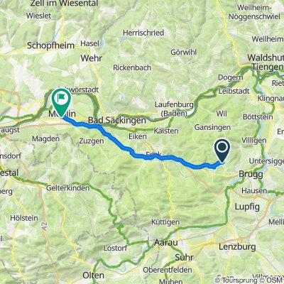 Mönthalerstrasse 1–3, Bözberg nach Nelkenweg 13, Möhlin