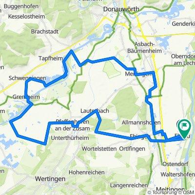 Ellgau Paffenhofen-Kulturweg-Mertingen Ellgau