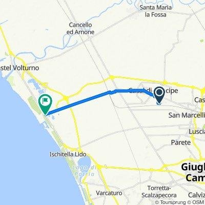 Da Via Vincenzo Cardarelli 1, San Cipriano d'Aversa a Via Domitiana 575, Castel Volturno
