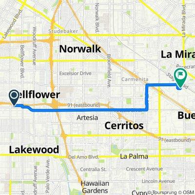 9519 Beverly St, Bellflower to 14849 Northam St, La Mirada