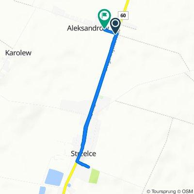 Restful route in Strzelce