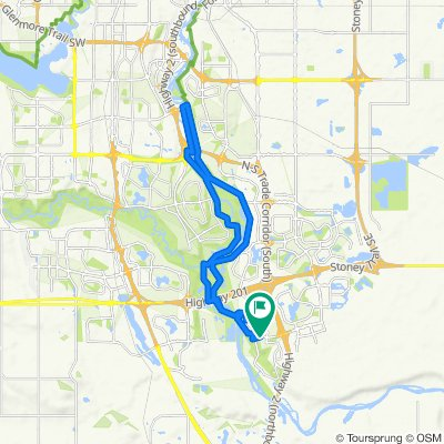 Cranston to  dogpark loop