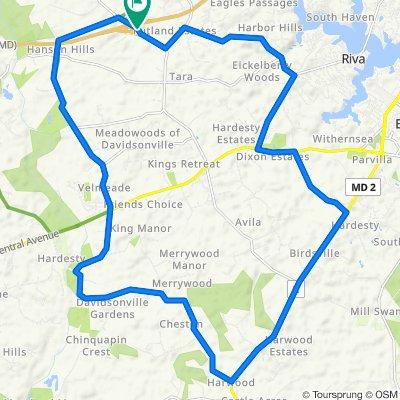 Sporty route in Davidsonville