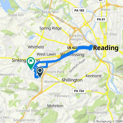 2421 Overland Ave, Reading to 3100 Iroquois Ave, Reading