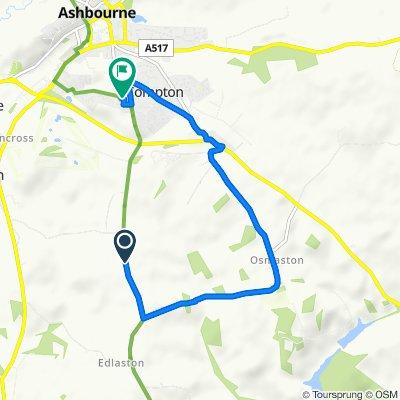Wyaston Road, Ashbourne to 2 Forshaw Close, Ashbourne