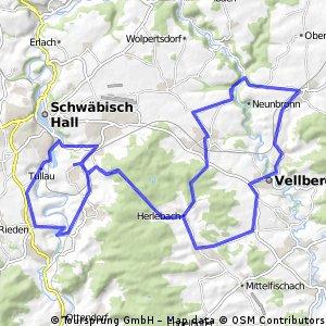 Kurztour bei Schwäbisch Hall