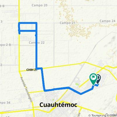 De Calle Pascual Orozco 139, Ciudad Cuauhtémoc a Mártires de Acayucan 230, Ciudad Cuauhtémoc