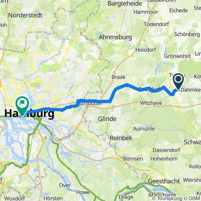 Dahmker Weg 4, Kuddewörde nach Baumwall 7, Hamburg