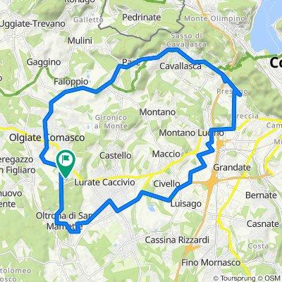 Da Via Luigi Einaudi 29, Olgiate Comasco a Via della Resistenza 5, Olgiate Comasco