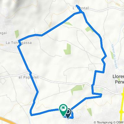 Relaxed route in Llorenç del Penedès