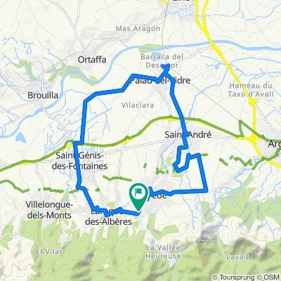 Moderate route in Laroque-des-Albères