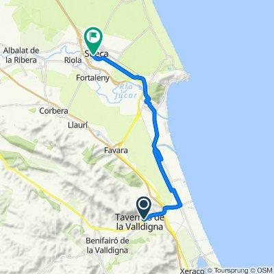 Moderate route in Sueca