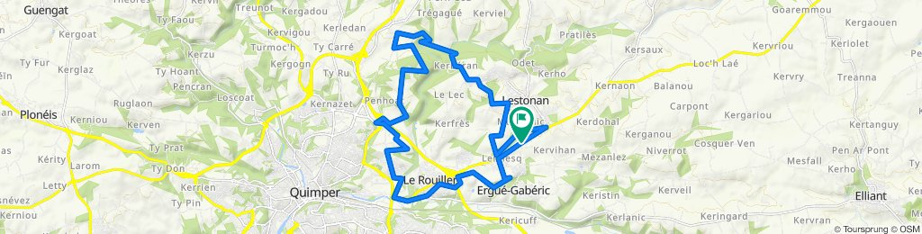 De Route de Croas Spern 6175f, Ergué-Gabéric à Route de Croas Spern 6175f, Ergué-Gabéric