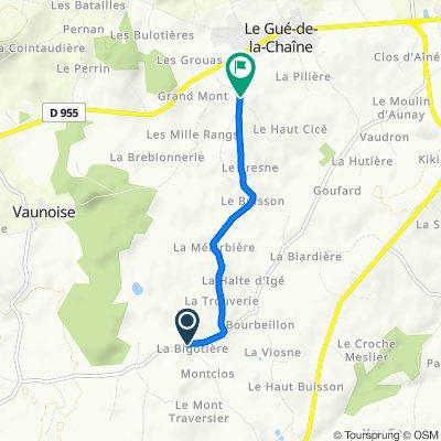 De D274, Belforêt-en-Perche à Unnamed Road, Belforêt-en-Perche