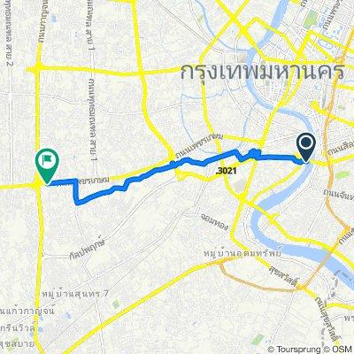 Moderate route in Bangkok