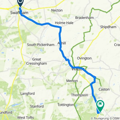Westend House, Tumbler Hill, Swaffham to Little Pieces, Low Road, Attleborough