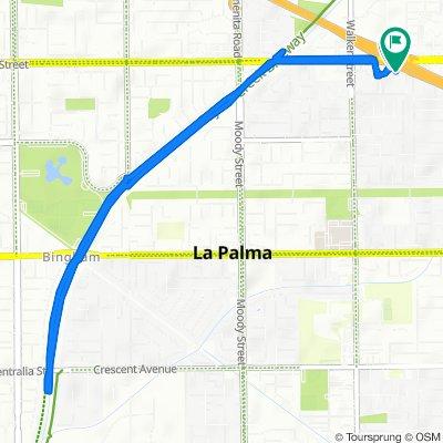 Orangethorpe Avenue 5600, La Palma to Orangethorpe Avenue 5600, La Palma