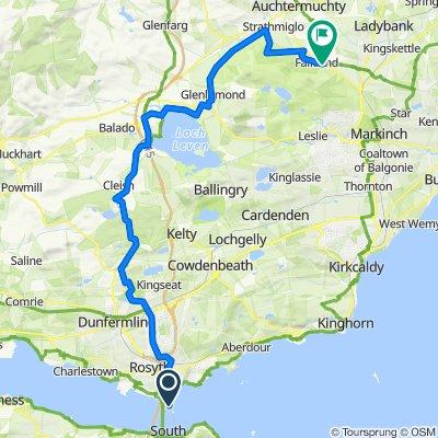 Route to 5 Southfield, Cupar