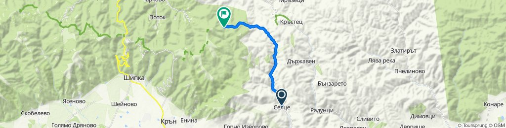 Route from Селце