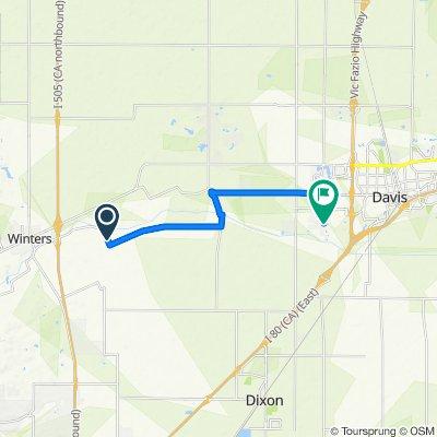 Route from 5226–5246 Putah Creek Rd, Winters