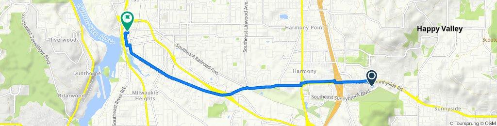 10786 SE Sunnyside Rd, Clackamas to 10660 SE 21st Ave, Milwaukie