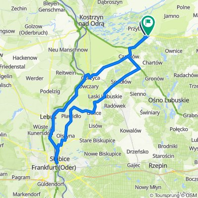 Słońsk - Czarnów - Górzyca - Nowy Lubusz - Słubice - Radówek - Stańsk - Słońsk