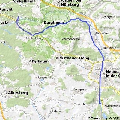 Feucht bis Campingplatz Sengenthal am alten Kanal