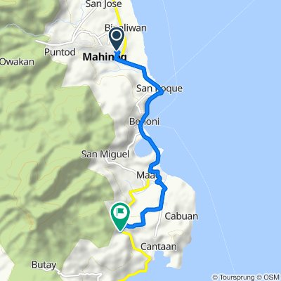 Route to Camiguin Circumferential Road, Guinsiliban
