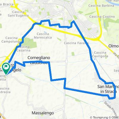 Da Via Monte Bianco 6, Muzza Sant'Angelo a Via Monte Bianco 3, Muzza Sant'Angelo
