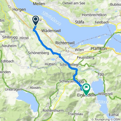 Moderate route in Einsiedeln