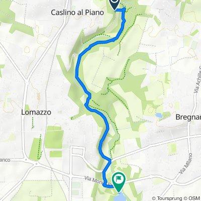 Percorso per Via Monte Rosa, Lomazzo