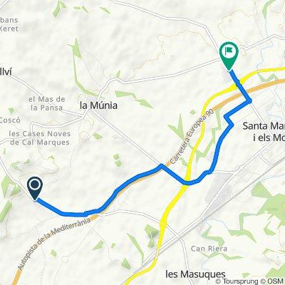 De Calle Major Sant Marçal, 1–11, Castellet i la Gornal a Calle Oliveres, 2–16, Santa Margarida i Els Monjos