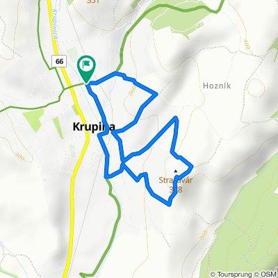 Krupina - Turecké studne - Stražavár (strážna rozhľadňa)
