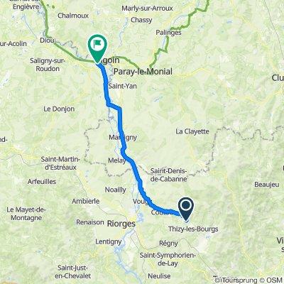De Levon, Thizy-les-Bourgs à Route de Moulins 6, Molinet